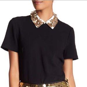 Trina Turk embellished collar top